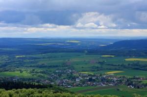 Utsikt över Veserbergland.