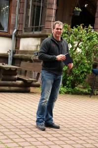 Stefan, en av föreståndarna på Villan.
