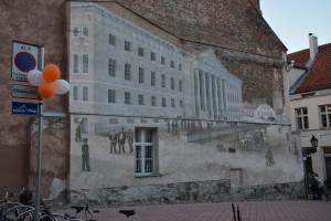 DSC_2597 Fasadmålning av universitetet i Tartu